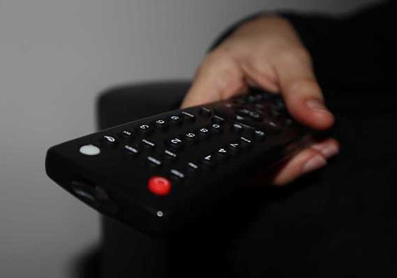 Man using a remote